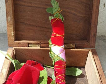 Smudge stick with roses