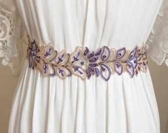 Purple Tulip Lace Sash