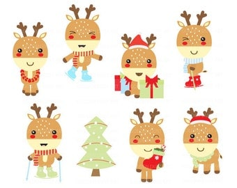 Reindeer clipart – Etsy