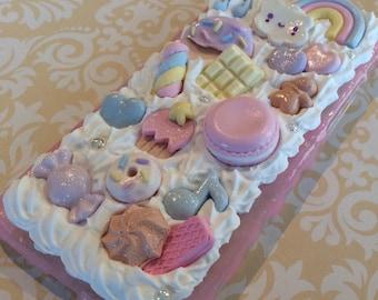 Cute Kawaii Decoden Dessert Whipped Cream Apple iPhone 6 and 6S Case
