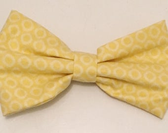 Yellow Patterned Hair Bow