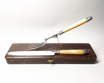 French Vintage Meat Carving - French Nogent Stainless Steel
