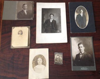 Antique Original Photographs---Set of 7