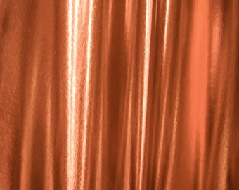 "JN00526 Copper Gold  Metallic 90/10% Poly/Spandex 300gm High Fashion Dance Evening Wearweight Soft Smooth 4 Way Stretch 58/60""By The Yard"