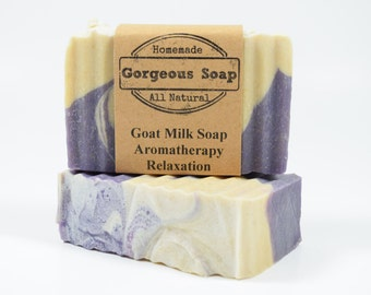 Aromatherapy: Relaxation Goat Milk Soap - All Natural Soap, Handmade Soap, Homemade Soap, Handcrafted Soap Aromatherapy Soap Relaxation Soap