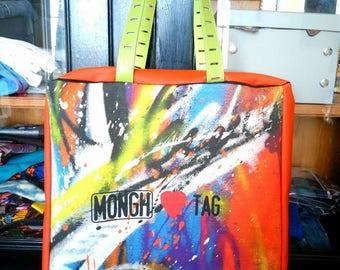 Beach Bag/ french style/big bag/ vegan bag