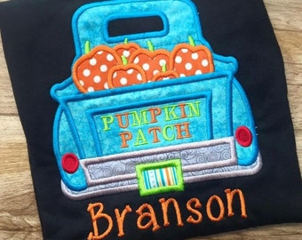 Boys pumpkin patch shirt