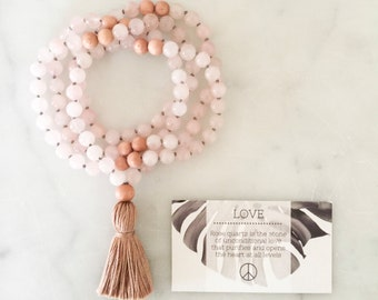 Love Mala- mala beads, mala necklace, tassel necklace, mala, tassel, mala beads necklace, tassel necklaces, beaded necklace, mala beads 108