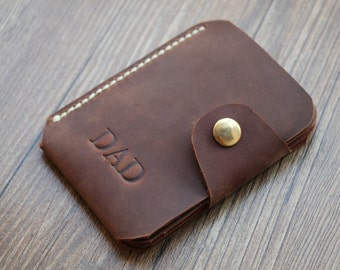 Thin Leather Wallet, Personalized Leather Wallet, Pocket Card Holder, Minimalist Credit Card Wallet, Mens Wallets, Groomsman/Wedding Gift