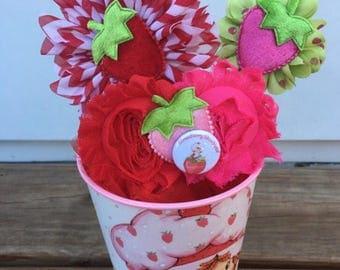 Strawberry headband or clip