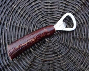 Vintage Handmade Bottle Opener; Retro Barware Tool Bone Bottle Opener; Bone Handle Tool; Vintage Home Decor / Kitchen Decor; Gift for Him
