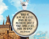 Dumbledore Quote, Potterhead Necklace, Harry Potter Jewelry, Albus Dumbledore quote, Harry Potter necklace, potterheads, keychain