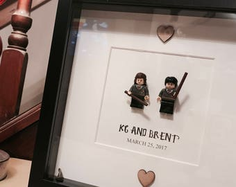 Harry Potter Wedding Gift - Brick Frame With Wizard Hat