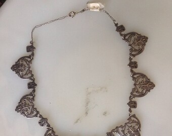 Vintage Sterling Silver Peruvian Necklace