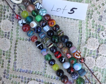 Sale! 50 plus assorted beads (lot 5)   hand made glass beads   lampwork beads   jewelry beads   beads for jewelry  