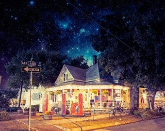 A Rest For Weary Souls - Limited Edition Canvas Print - Denton Texas Oak Street Drafthouse