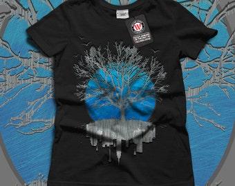 Urban Mirror Tree City View Women Black White Grey Red Royal Blue T-shirt S-2XL NEW   Wellcoda *y3092