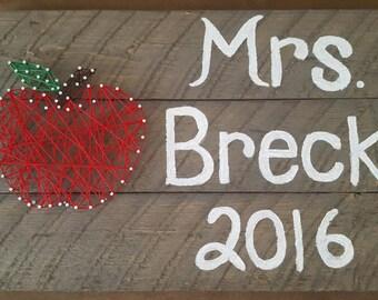 Teacher's Apple String art