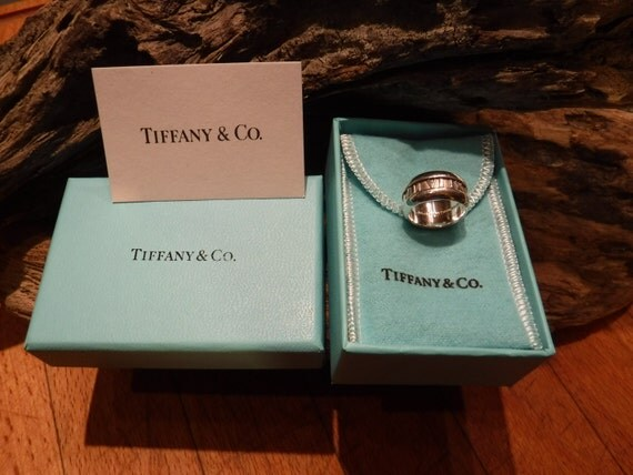 Tiffany & Co Sterling Silver Atlas Ring Roman Numeral  Size 4.5 Tiffany Unisex Ring Heavy 7.4 grams Tiffany Silver Band Ring Tiffany Mens