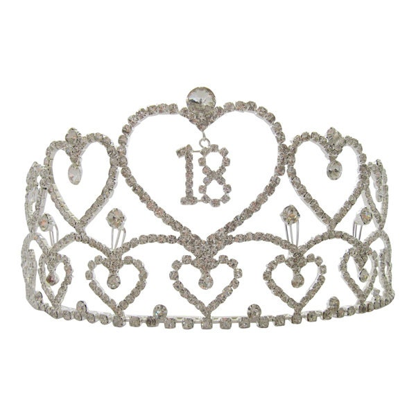 Extra Large Diamante Crystal 18th Birthday Tiara 18th Crown
