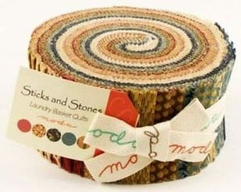 Sticks & Stones Jelly Roll from Moda by the pack