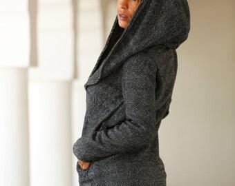 Coat / Coatigan Black& White SALE %
