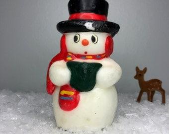 vintage unused Christmas holiday snowman candle