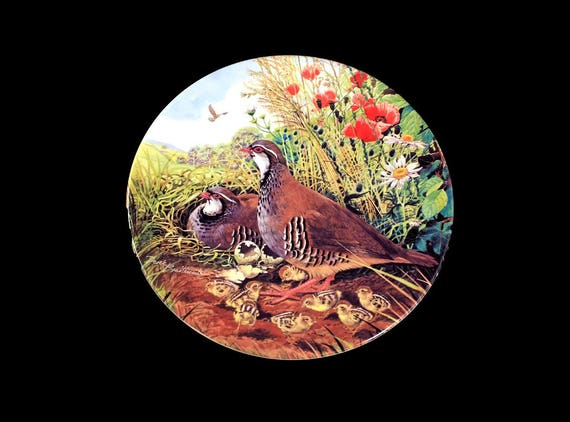 1987 Collectible Plate, Royal Grafton, Game Bird Collection, Red-Legged Partridge, Limited Edition, Decorative Plate, Wall Decor, New In Box