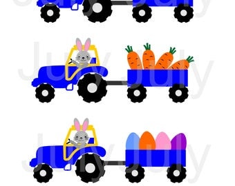 Easter Tractor with Eggs , Easter SVG, Easter Truck SVG, Tractor, Boy's Easter Dumptruck Shirt svg, dxf, eps, png, Easter Tractor SVG