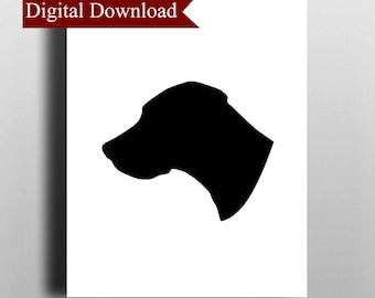 Great Dane Dog Silhouette DIGITAL Print Download