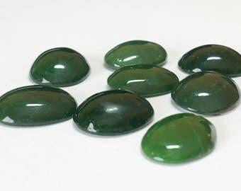 Green Jade Oval Cabochon 12x16mm-1 piece