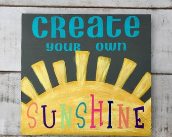 Your own sunshine etsy for Design your own house sign