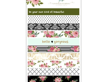 Rosy Posy Washi Strips