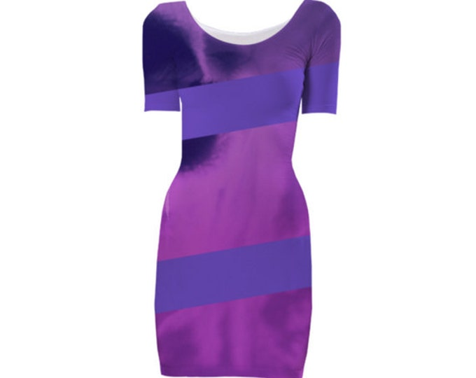 Stunning Bodycon Dress-Evening Dress,Cocktail Dress, Party Dress, Midi Dress,Elegant Dress,Floral Dress,Custom-Made Dress,Knee Length