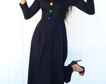 The most fun dress ever by EXPO vintage 1980 knit FREE SHIPPING from RCMooreVintage  size 4