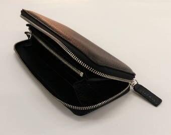 Black leather wallet. Wallet leather black.