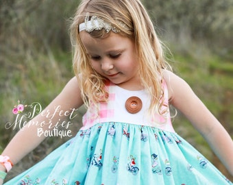 Bicycle Picnic Dress | Girls Spring Dress | Spring Dress | Toddler Dress | Bicycles | Dress | Baby Girl Dress | Summer Dress | Spring Dress