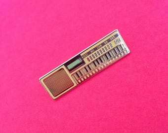 80s Toy Keyboard Synth Hard Enamel Pin Badge Lapel Pin From Original Illustration Pin Game VL-Tone Synthesiser Inspired Synthesizer 1980s
