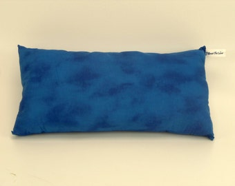 Decorative Bed Pillow, Blue Cotton, Kids Pillow, Rectangular, Bedroom Decor, Complete Pillow