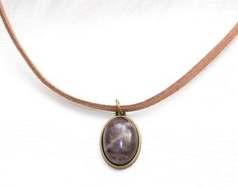 Genuine Amethyst Choker, February Birthday Gift, Gypsy Jewelry, Amethyst Necklace, Amethyst Jewelry, February Birthstone
