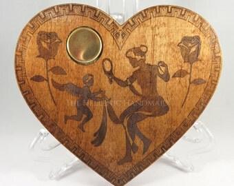 "Aphrodite incense burner, 5"" laser engraved maple wood incense cone burner plate honoring the Greek Goddess of love and beauty"
