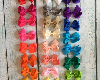 10% OFF!! 4-inch bows - Set of 30- Bow Clips, Alligator Clips, Girl Bows, Cheap Bows, Baby Bows, Dollar Bows, Little Girl Bows, Hair Bows