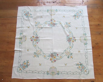 Vintage ready-to-cross-stitch tablecloth