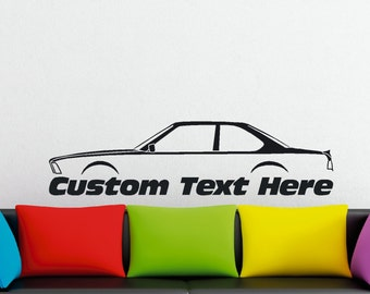 Large Custom car silhouette wall sticker - for BMW e24 6-series classic coupe 1976-1989