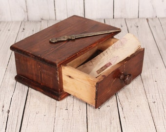 Small Wooden Cabinet, Vintage Jewelry Box, Jewelry Holder, Shabby Chic, Wood  Cabinet