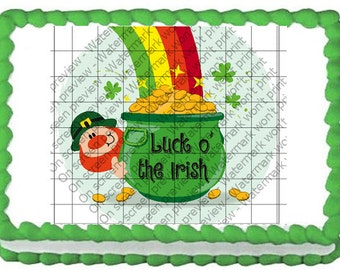 LUCK O' THE Irish Edible Image