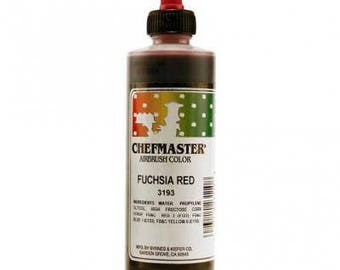 FUSCHIA RED  Chefmaster Airbrush Color