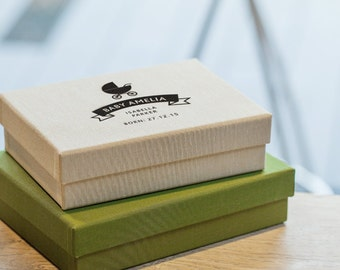 Custom Personalised Linen Picture Box Keepsake