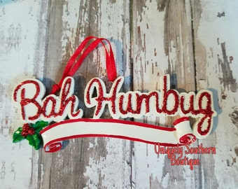 Personalized Bah Humbug ornament