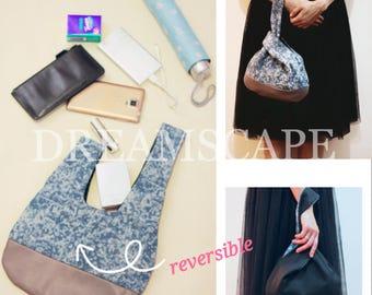 Denim Japanese Knot Bag